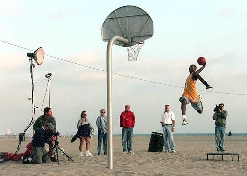 Laker rookie Kobe Bryant was a seasoned veteran of advertising photo shoots before taking his first shot in training camp.