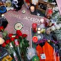 Candles and flowers at Michael Jackson's star
