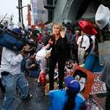 TV crews at Michael Jackson's star on Walk of Fame