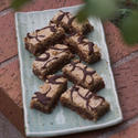 Viennese hazelnut chocolate raspberry bars