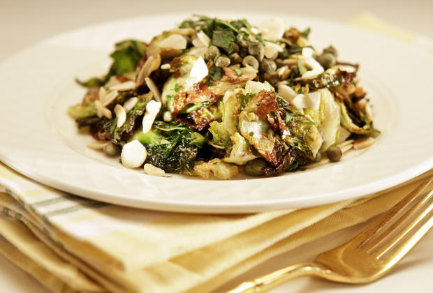 "A salad made with deep-fried Brussels sprout leaves by Cleo restaurant. <a href=""http://www.latimes.com/features/food/la-fo-sos-brusselssprouts-20120223,0,2611274.story"">Recipe</a>"