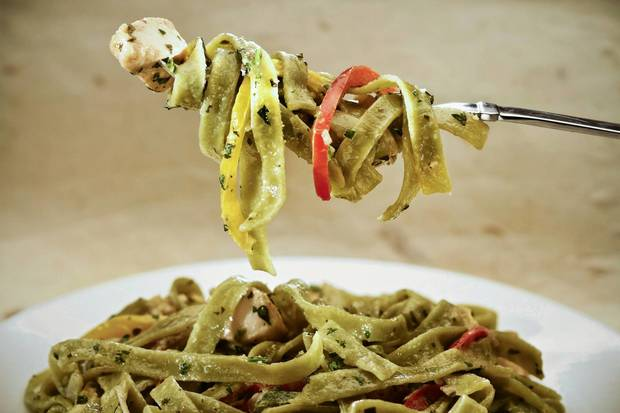 "Chicken tequila fettuccine is a popular  California Pizza Kitchen dish. <a href=""http://www.latimes.com/features/food/la-fo-sos-chicken-tequila-fettuccine-20130209,0,597900.story"">Recipe</a>"