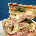Croque-monsieur (grilled ham and cheese)