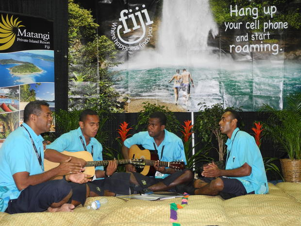 Fiji urges you to hang up your cellphone and start roaming. The musicians make that message music to one's ears.