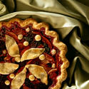 Pear blackberry pie