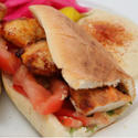 Shish kebab sandwich from Cafe Bravo
