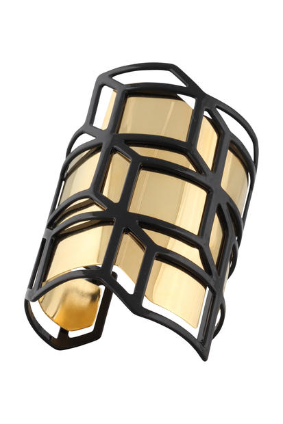 Pierre Hardy Paris black and gold geometric cuff, $895 at Pierre Hardy New York, (646) 449-0070.