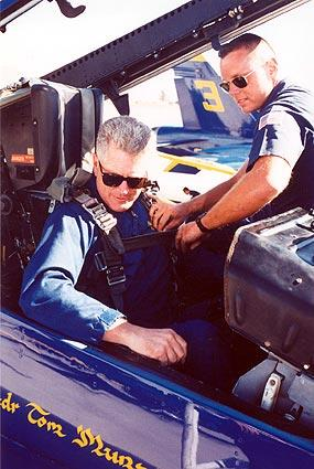 Flying with the Blue Angels in El Centro, Calif.