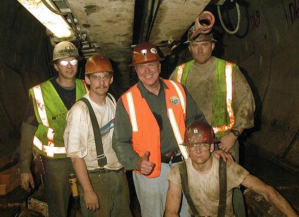 With a construction crew underground in L.A.