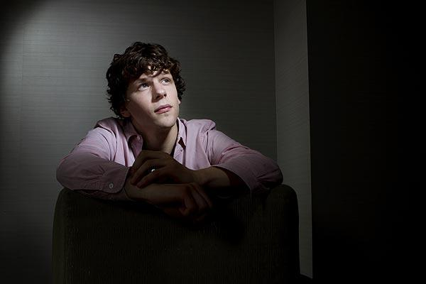 "Jesse Eisenberg plays the socially awkward genius who created Facebook in ""The Social Network."" He's photographed in Santa Monica.<br> <br> RELATED: <BR>