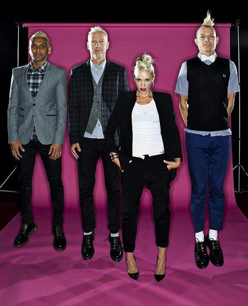 "No Doubt's Tony Kanal, left, Tom Dumont, Gwen Stefani and Adrian Young have their first new album in 11 years.<br> MORE: <a href=""http://www.latimes.com/entertainment/music/posts/la-et-ms-ca-no-doubt-gwen-stefani-new-album-20120909,0,551222.story"" target=""_blank"">No Doubt may 'Push and Shove' its way back to the top'</a>"