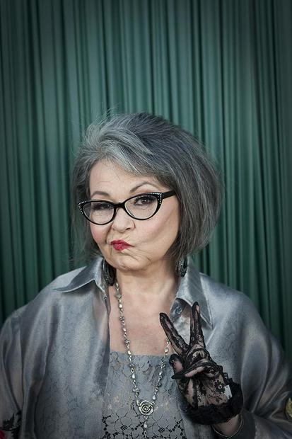 "Comedian Roseanne Barr poses for photos before her roast by Comedy Central at the Palladium in Hollywood. <br /> MORE: <a href=""http://www.latimes.com/entertainment/tv/showtracker/la-et-st-roseanne-roast-20120811,0,7866642.story"" target=""_blank"">Roseanne, presidential candidate, can take the heat of a roast</a>"