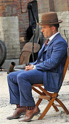 "Anatol Yusef filming ""Boardwalk Empire"" on location in New York City."