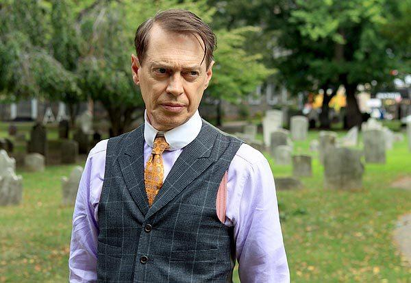 "Steve Buscemi on location in Manhattan for the filming of ""Boardwalk Empire."""
