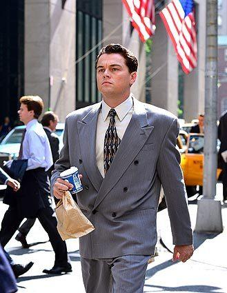 "Leonardo DiCaprio films ""The Wolf of Wall Street"" on location in New York City."