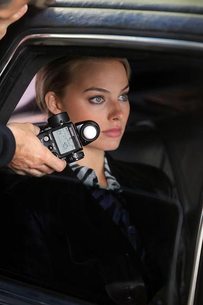 "Margot Robbie on location in Manhattan for ""The Wolf of Wall Street."""