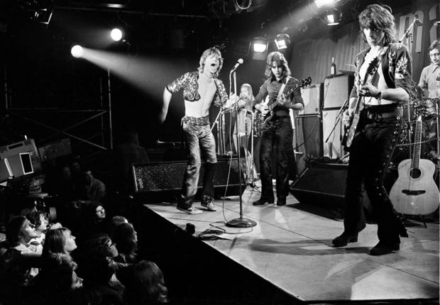The Rolling Stones perform at London's Marquee Club on March 26, 1971.