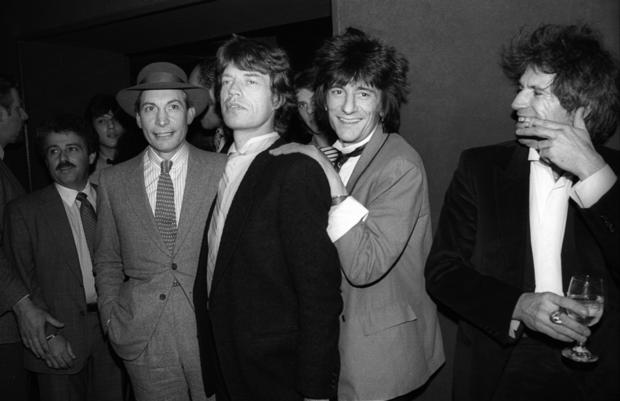 The Rolling Stones at a party in the United States on Jan. 18, 1983.