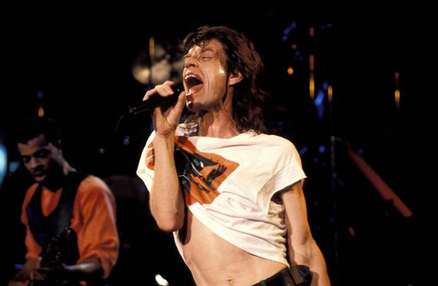 Mick Jagger performs in Australia on Sept. 1, 1988.