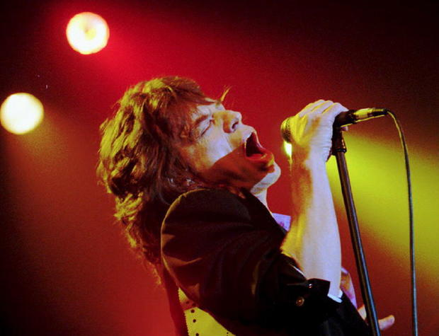 Mick Jagger sings at Webster Hall in New York on Feb. 9, 1993.