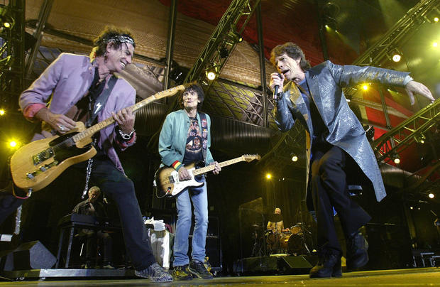 The Rolling Stones perform in Benidorm, Spain, on Sept. 25, 2003.