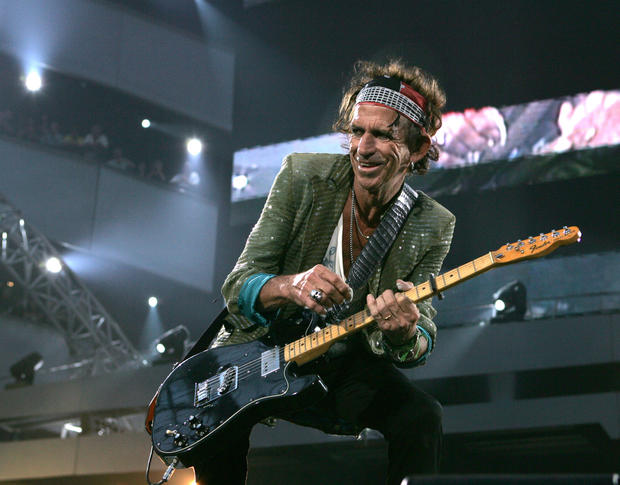 Keith Richards performs in Amsterdam on July 31, 2006.