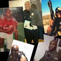 A composite of selected images that appear on the Facebook page police believe to be Christopher Dorner's