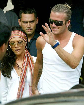 "<b>Posh and Becks</b><br> <br> David Beckham is married to Victoria ""Posh Spice"" Beckham.  They have three sons together.<br> <br> ""Posh and Becks"" are like the British Tomkat; actually, Posh and Becks are close friends with Tom Cruise and Katie Holmes."