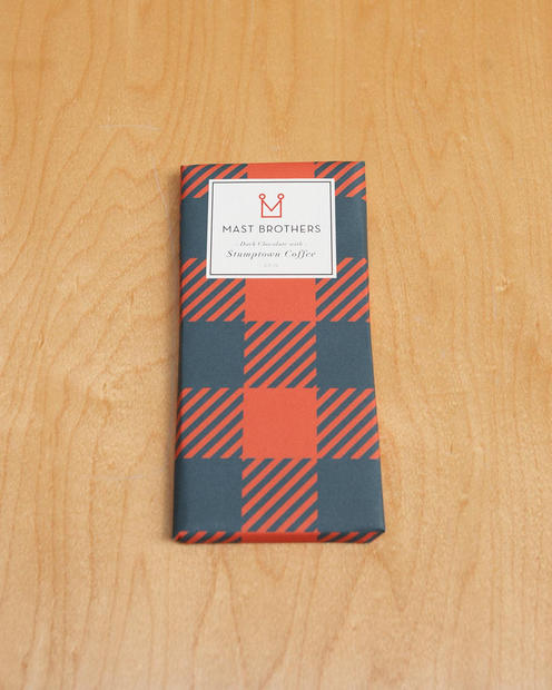 "Mast Brothers Chocolate Stumptown Coffee dark chocolate bar from <a href=""http://www.mohawkgeneralstore.net/products/116826286"">Mohawk General Store</a>. It wouldn't be Valentine's Day without chocolate! And this caffeinated cocoa is sure to get hearts racing ($9)."