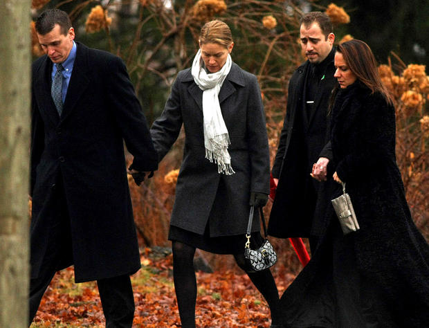 Mourners arrive for the funeral of Jack Pinto, 6.