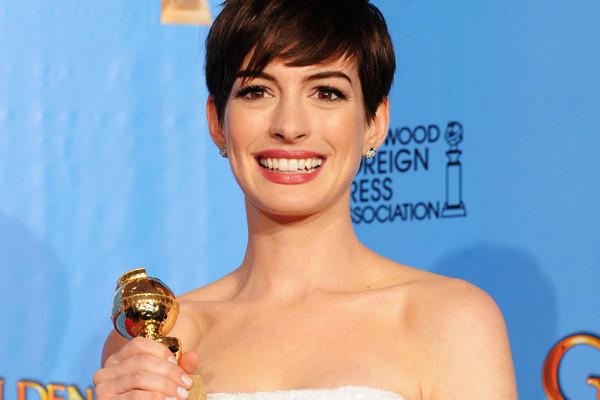 """It's so encouraging because there are so many people out there who feel, and know in their hearts, that they are actors, and it doesn't work out for so many of them,"" Anne Hathaway said. 