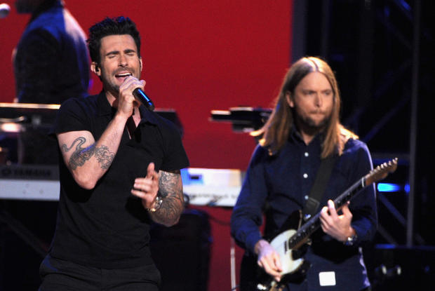 "Grammy-nominated Maroon 5 performed ""One More Night"" and ""Moves Like Jagger"" off its album ""Overexposed,"" which is nominated for pop vocal album."