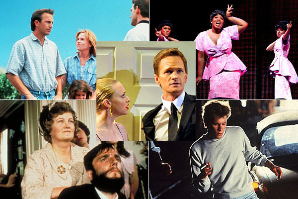 "Neil Patrick Harris ran through a few mash-up titles, should film and theater ever merge. ""Field of Dream Girls,"" ""Psycho Calcutta"" and ""A Bridge on the River Kwai Baby"" were among them. Our favorite? ""My Left Footloose."" (""Think of the dance numbers...!"" he said)."
