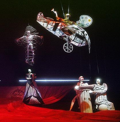 "Fantasy takes wing in the staging of Los Angeles Opera's ""Das Rheingold"" at the Dorothy Chandler Pavilion."