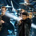 Usher performs