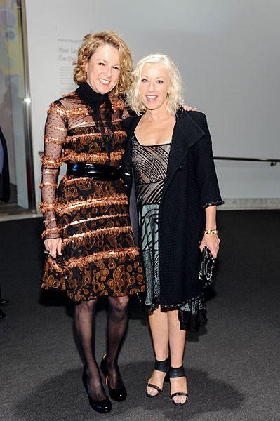 Annie Philbin and honoree Cindy Sherman