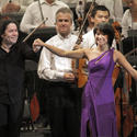 Gustavo Dudamel and Yuja Wang at the Bowl
