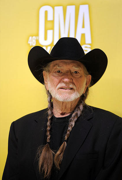 Willie Nelson arrives at the 46th Country Music Awards at the Bridgestone Arena in Nashville.