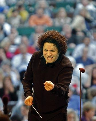 "Gustavo Dudamel urges the Los Angeles Philharmonic through the performance of ""Carmen."""