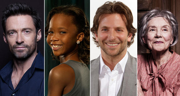 "There are four first-time nominees in the lead acting categories: actor nominees Bradley Cooper (""Silver Linings Playbook"") and Hugh Jackman (""Les Miserables"") and actress nominees Emmanuelle Riva (""Amour"") and Quvenzhane Wallis (""Beasts of the Southern Wild"")."