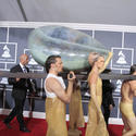 2011 Grammys: Lady Gaga arrives in an egg