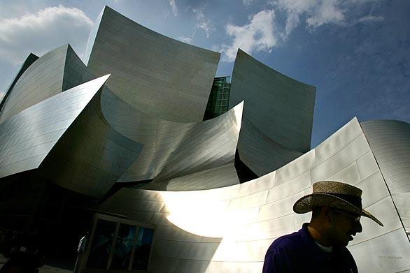 Walt Disney Concert Hall in downtown Los Angeles, one of architect Frank Gehry's signature structures.