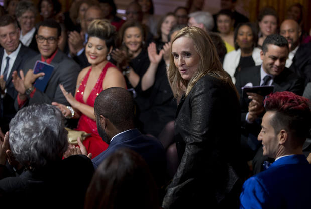 "Musician Melissa Etheridge announced she was a lesbian during the January 1993 Triangle Ball — a gay and lesbian gala that celebrated the first inauguration of President Clinton. <a href=""http://www.youtube.com/watch?v=74xbqclujJ4"" target=""_blank"">Watch the video here.</a>"