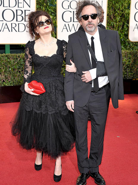 Helena Bonham Carter and Tim Burton.