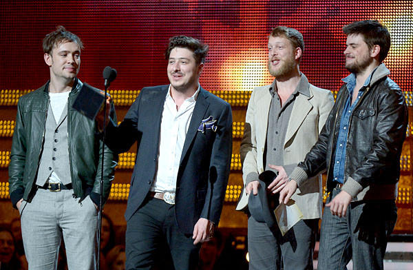 """We figured we weren't going to win because the Black Keys have been sweeping up all day -- and deservedly so,"" Mumford & Sons frontman Marcus Mumford."