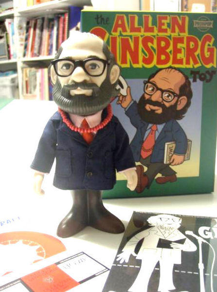"This bobblehead figure of Allen Ginsberg comes with a CD of him reading five of his poems. And love beads. (<A href="".aggronautix"">$40</a>)"