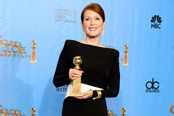 """What she [and Katie Couric] did in 2008 was truly extraordinary,"" said Julianne Moore, who won a Golden Globe for her portrayal of vice presidential candidate Sarah Palin in HBO's ""Game Change."" ""They really changed that election. It was very subtle. But in their own industries, they were quite powerful forces."""