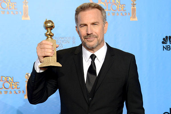 """I feel like I say, 'No' all day long,"" jokes Kevin Costner, who won a Golden Globe for ""Hatfields & McCoys."" ""I love raising my kids, and I built our homes. I have a life that's very outside of the business. But I'll probably never move away from telling stories, because I love to do that."""