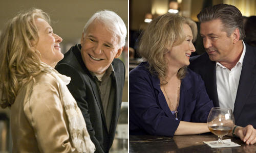 "<b>Angles of the love triangle:</b> Jake (Alec Baldwin) and Jane (Meryl Streep) were married, but that was a long time ago. They've been divorced for 10 years and their kids are leaving the nest. When the former couple reconnects at their son's college graduation they begin a hot love affair, even though Jake is trying to start a family with his much younger new wife.<br> <br> <b>Final equation:</b> Jane likes being the ""other woman,"" but she's also looking for a real relationship. That's where Adam (Steve Martin) enters the picture, a successful and sensitive architect who is redesigning her kitchen. Of course, Jake's marriage falls apart and Adam finds out about the affair. Jake and Jane end the relationship, leaving Jane free to pursue a life with Adam."