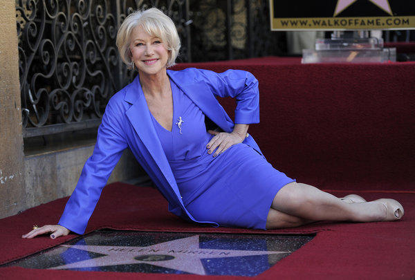 "Helen Mirren, Oscar winner for her performance in 2007's ""The Queen,"" was queen for a day in Hollywood on Thursday, receiving the 2,488th star on the Walk of Fame.   She even had a king to attend to her in her new home.  ""The 'queen's' star,"" said Leron Gubler, Hollywood Chamber of Commerce president and chief exec, ""is located right next to that of the 'king,' Colin Firth. We've kind of made this, in front of the Pig 'N Whistle, we've kind of made this a Brit location.""  <br><br> <strong>Full story:</strong> <a href=""http://www.latimes.com/entertainment/gossip/la-et-mg-helen-mirren-star-hollywood-walk-of-fame-20130103,0,399419.story"">Helen Mirren's star gets a prime spot on Hollywood Walk of Fame</a> 